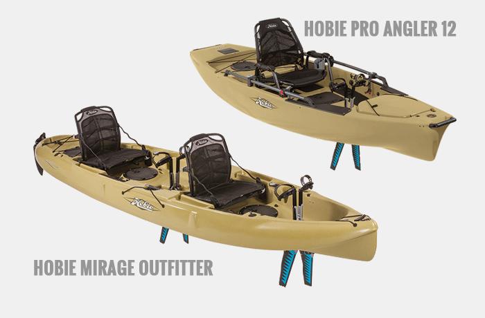 Hobie Pro Angler og Hobie Mirage Outfitter